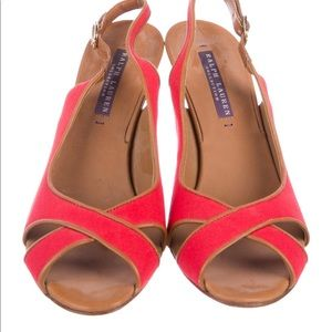 Ralph Lauren Canvas Slingback Pumps-Made i…